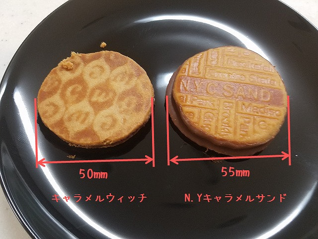 クッキー大きさ比較