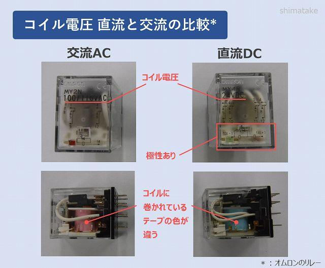 コイル電圧の比較