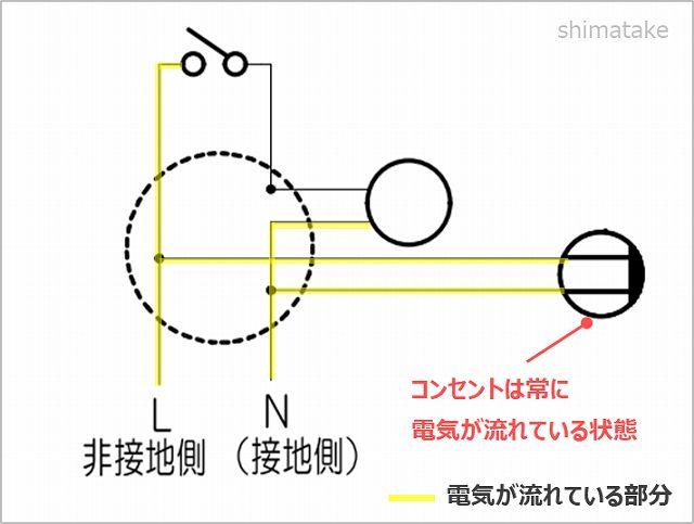 複線図の回路確認_コンセント1