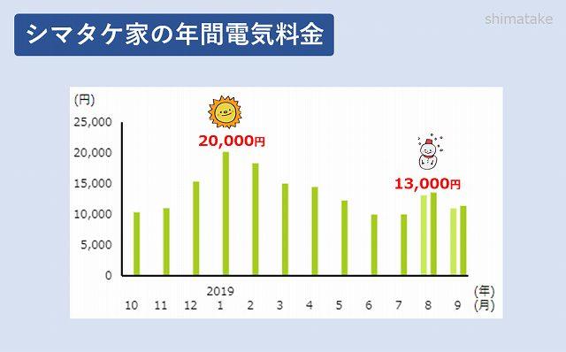 年間電気料金グラフ