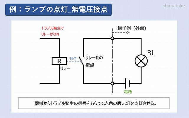 ランプの点灯_無電圧接点