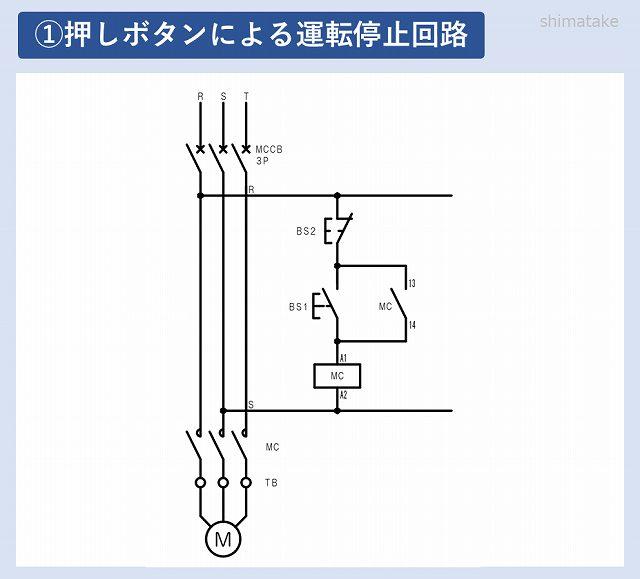 モーター運転停止回路図1