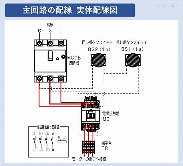 1の主回路実体配線図