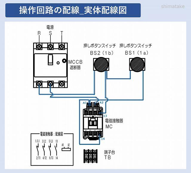 1の操作回路実体配線図