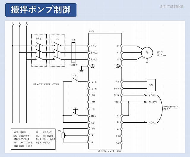 配線例_INV攪拌ポンプ回路