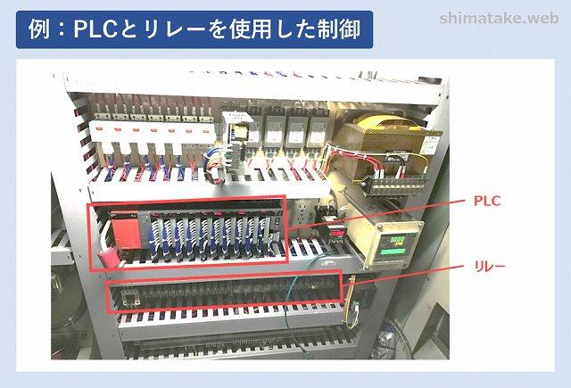 PLCとリレーを使用した制御