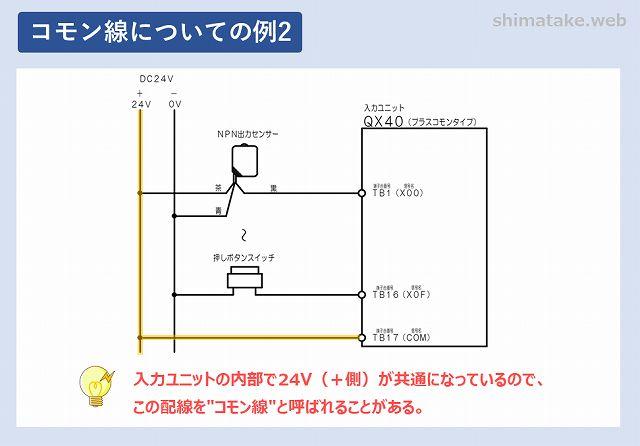 コモン線の例2