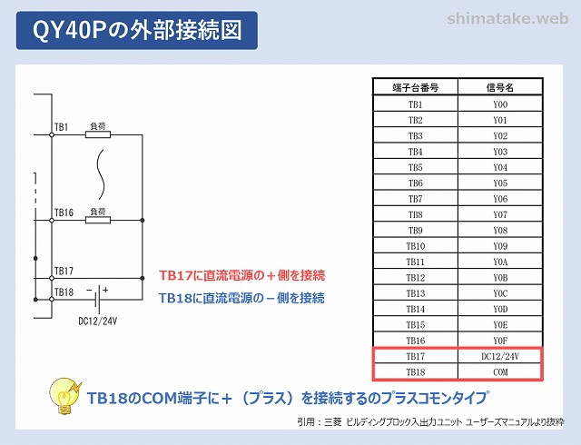 QY40Pの外部接続図-2
