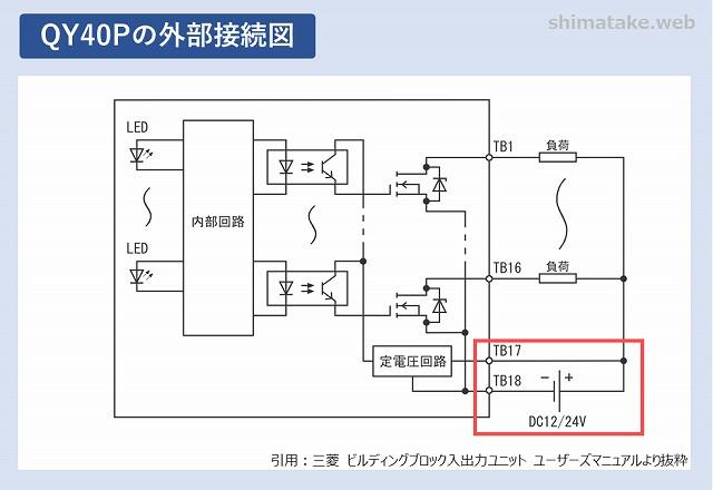 QY40Pの外部接続図
