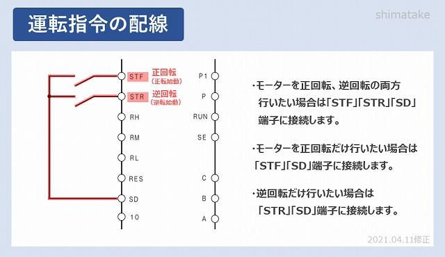 INV運転指令の配線修正版